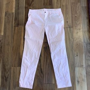 Gap Broken In Straight Khakis in Blush Pink